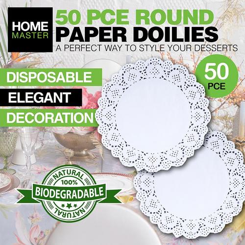 Doilies Round Paper 26cm 50pc
