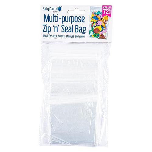 Bag Resealable 14.8cm x 7.9cm 72pk