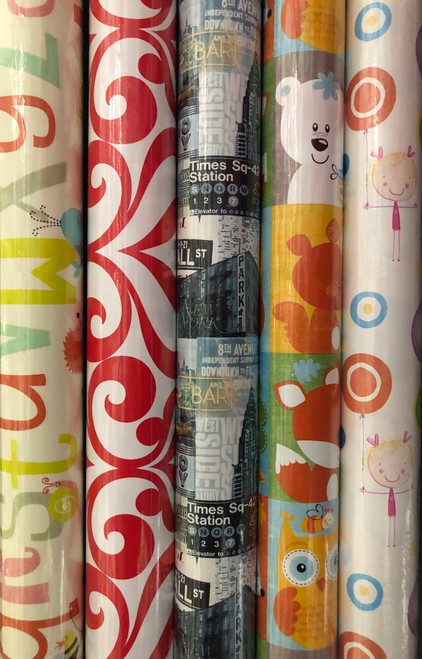 3m Assorted Design Roll Wrap