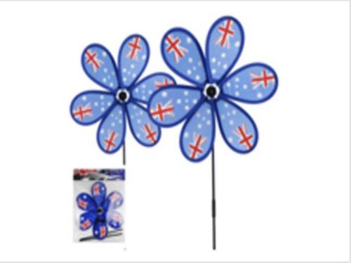 AUSTRALIA DAY FLOWER WINDPICK 54 X D28CM NYLON