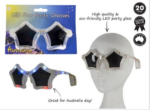 OZ DAY LED STAR GLASSES FLASH