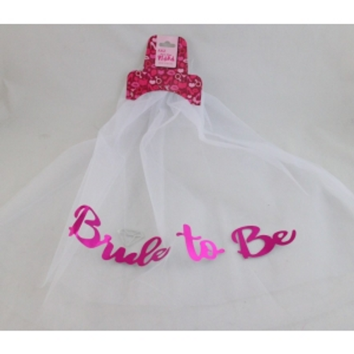 BRIDE TO BE VEIL WITH HEADER CARD