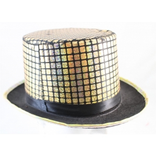 GOLD CHECKED TOP HAT