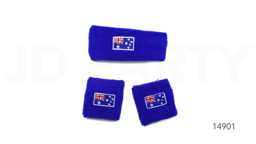 Headband & Wristband Set (Australia Flag)