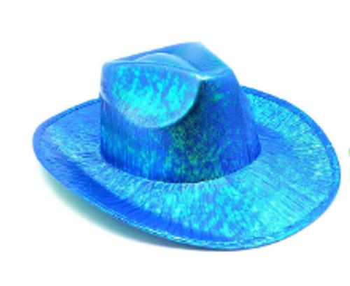 Metallic Cowboy Hat (Blue)