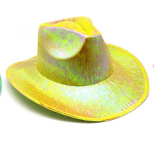 Metallic Cowboy Hat (Yellow)