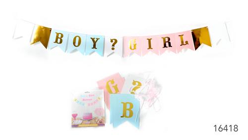 Boy or Girl Garland Gender reveal party