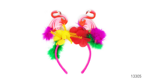 Hawaiian flamingo and flower Hairband