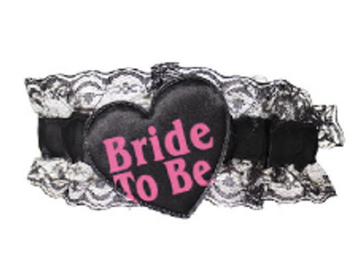 Bride to be Lace Garter (Black)
