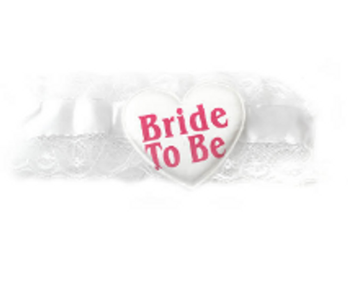Bride to be Lace Garter (White)