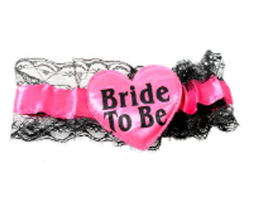 Bride to be Lace Garter (Hot Pink)