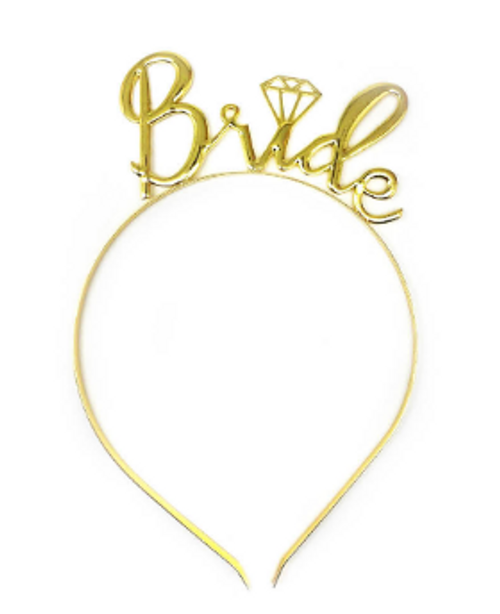 Bride to be Headband Deluxe (Gold)