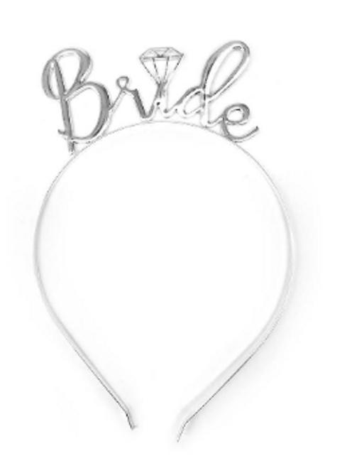 Bride to be Headband Deluxe (Silver)