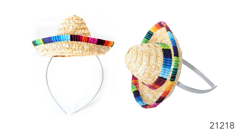 Mini Mexican Hat on headband *