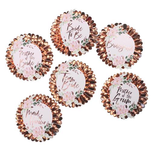 GR Floral Hen Party Badges
