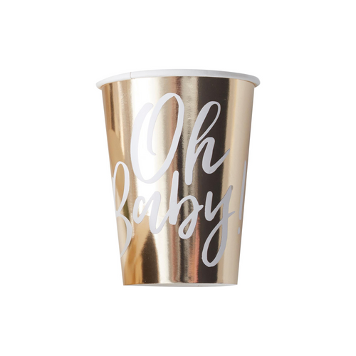 GR Oh Baby! Gold Foil Ppr Cups