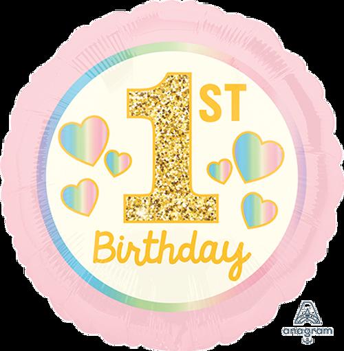STD HX Girl 1st Birthday Pink
