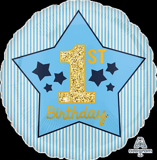 STD HX Boy 1st Birthday Blue &