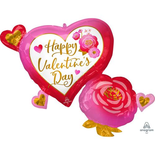 SS XL HVD Heart & Roses P35