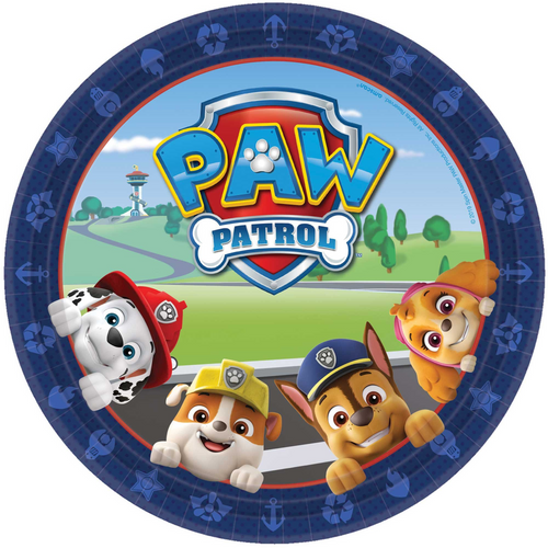 Paw Patrol Adv 9in/23cm Rnd Pl