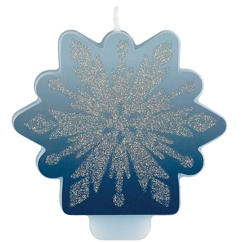 Frozen 2 Gltr & Decal Candle