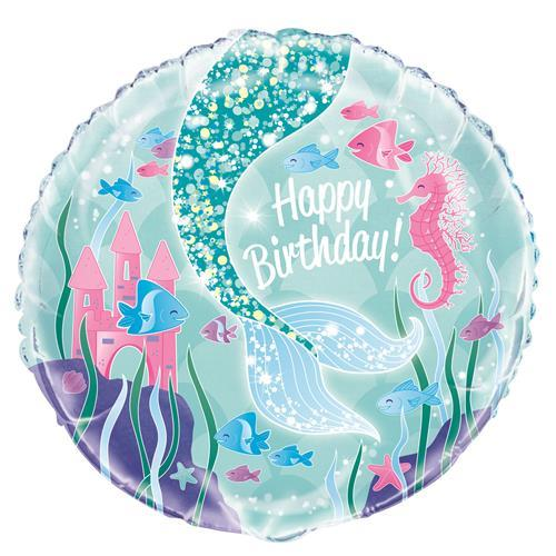 "MERMAID 18"" FOIL BLN PKG"