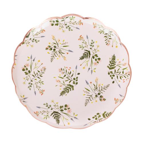 Lets Par Tea Ppr Plate Floral