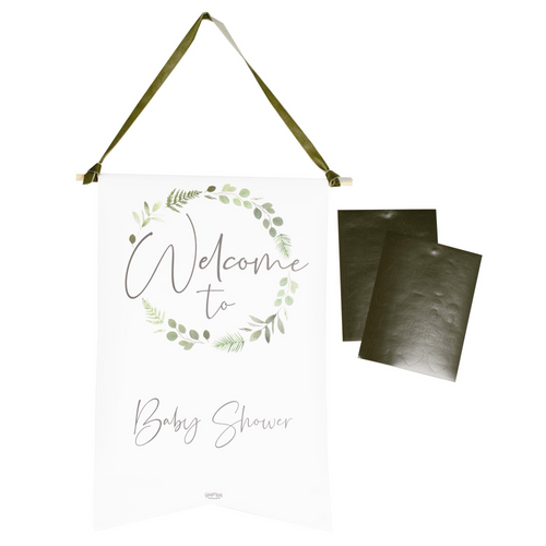 GR Botanical Baby Customisable Welcome Sign