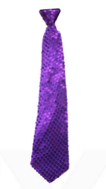 Sequin Tie (Purple)