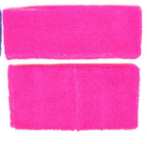 Headband & Wristband Set (Fluro Pink)