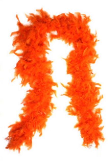 Feather Boa (Orange)