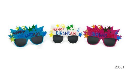 Party Glasses Happy Birthday Celebration (Mixed)
