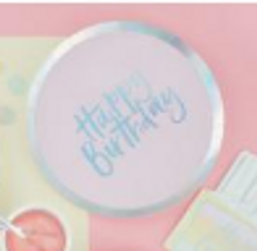 Pastel Party Plate10in/26cm ppr  8pk