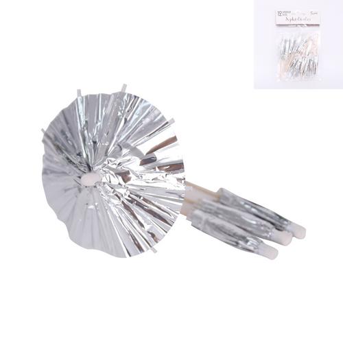 *12 Silver Umbrella Pick