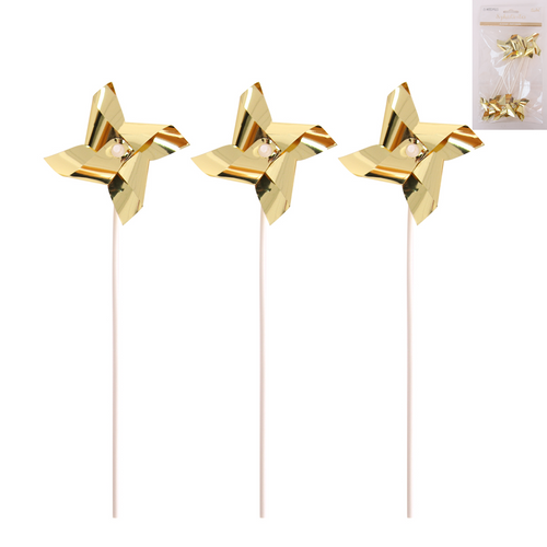 *6 Gold Windmill Topper