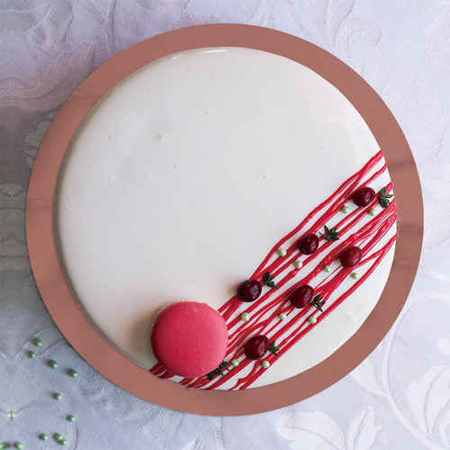 *30cm Round Rose Gold Cake Board