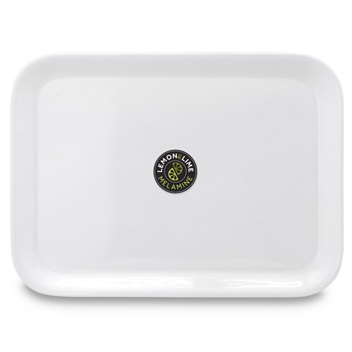 MELAMINE SERVING TRAY WHITE