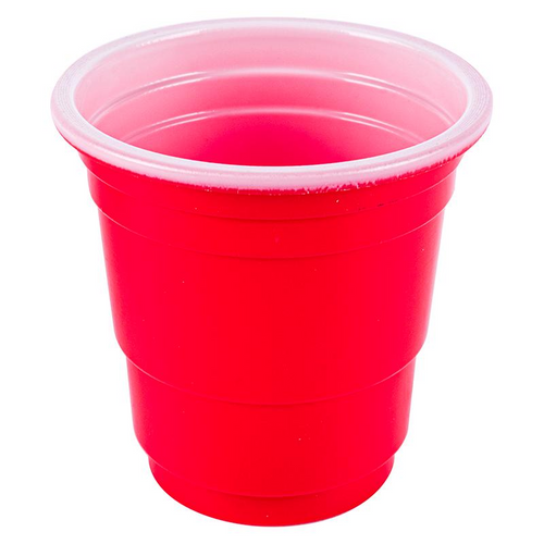 Disposable Drinkware Shot Cups American Red  56ml 20pk