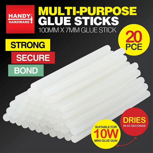 Glue Sticks 100mm x 7mm 20pc (Glue Gun 55500)