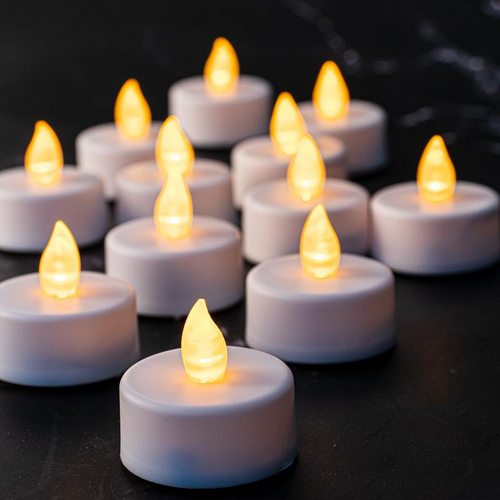 Candles LED Tealight With Remote Control 12pk