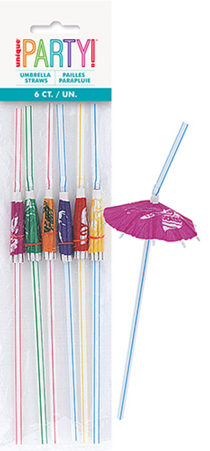 LUAU 6 UMBRELLA STRAWS