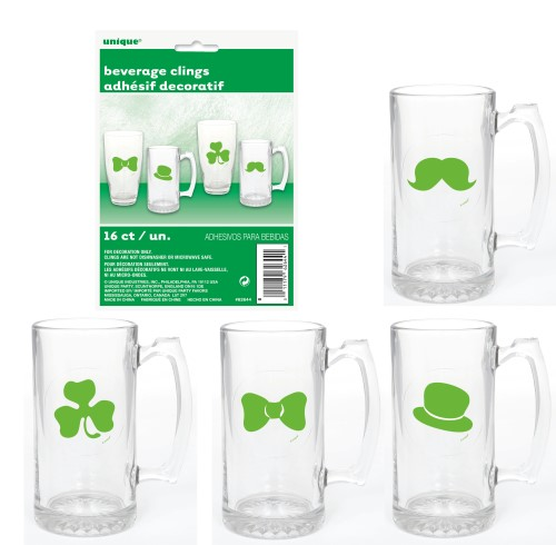 16 BEVERAGE CLINGS - ST PATS