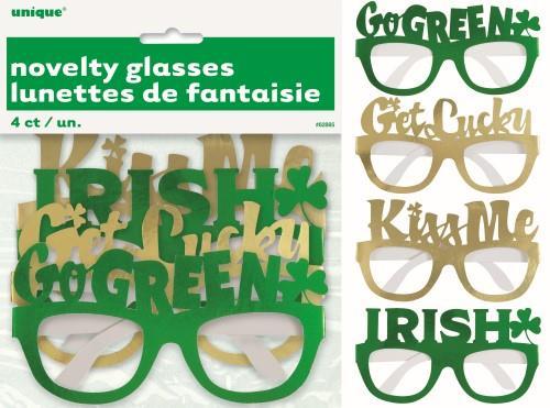 4 FOIL PARTY GLASSES - ST PATS