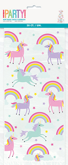 RAINBOW & UNICORN 20 CELLO BAGS