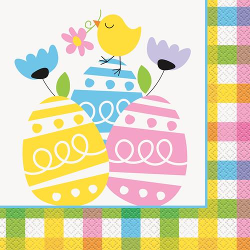 PLAID EASTER 20 LUNCH NAPKINS