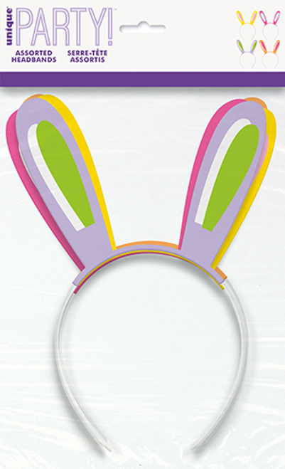 4 EASTER BUNNY EAR HEADBANDS