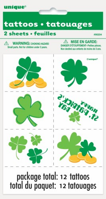 ST PATS 2 COLOUR TATTOO SHEETS