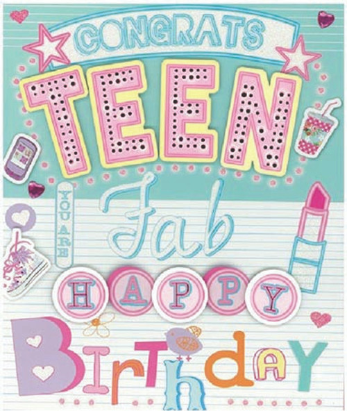 CARD NQSQUARE BD TEEN F