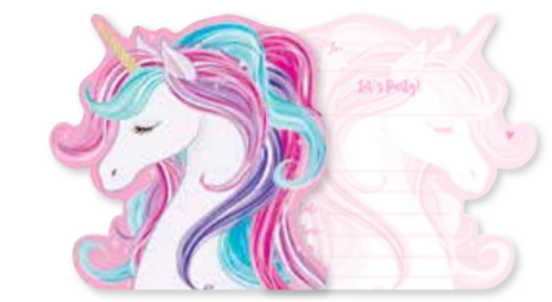 INVITE 8PK UNICORN