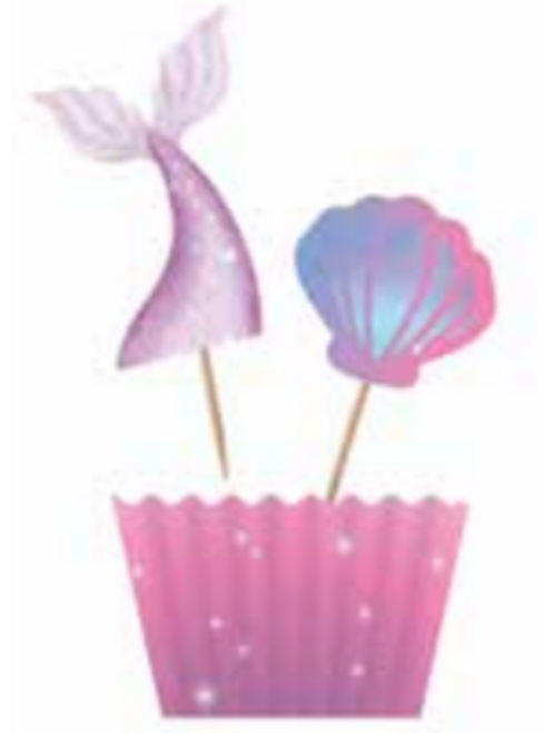 CUPCAKE KIT 12PK MERMAID